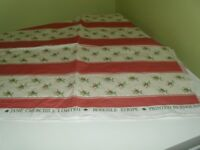 Vintage fabric with rosebuds approx 21 inches x 44 inches