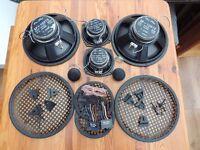 """Pro Plus 3 way components SP-1015S 200 watt 10"""" 5"""" 1"""" & Sony Amplifier"""