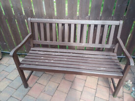 Wooden Garden Bench 128cm Long