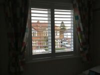 White Wooden Window Blinds