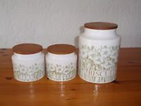 White Pot Kitchen storage Jar set for Tea, Coffee and Biscuits