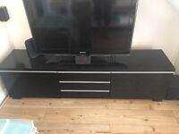 IKEA Besta high gloss tv unit in black