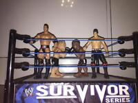 WWE Wrestling wring with 4 characters