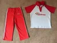 Rainbows Joggers & Top (size small joggers & medium top)