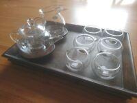 Korean glass tea set