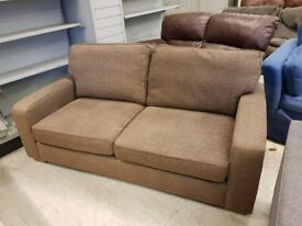 Light Brown Fabric 2 Seat Sofa