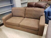 Light Brown Fabric 2 Seat Sofa