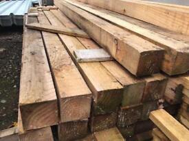 🌩New Wooden Posts * 2.35m X 85mm X 85mm * £6.50