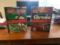 Monopoly and Cluedo Board Games