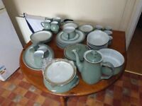 LARGE MIXED LOT OF REGENCY GREEN DENBY DISHES