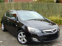 2010 10 VAUXHALL ASTRA SRI 1.6i VVT AUTOMATIC BLACK 5 DOOR AUTO - 77K MILES / 4 OWNERS / 40MPG