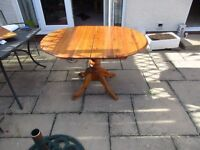 Oval Pine Extending Table and 4 chairs