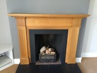 High quality solid wood mantlepiece / fire surround with accessories