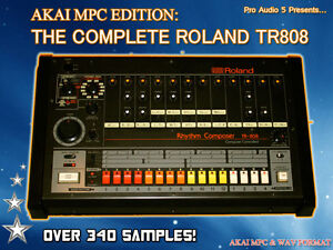 Roland TR808 Samples - Akai MPC 1000, 4000, 2500, 2000XL + .WAV - DOWNLOAD
