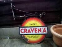Craven A vintage collectible sign
