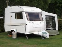 Touring Caravan - Silverline Nova Princess 1989. With awning and accessories.