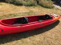 Perception tandem double 2 person Kayak with spray deck
