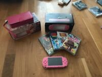 Pink PSP, games and accessories