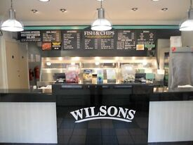 Full Time Counter Assistant Required for Wilsons Fish & Chips Shop, Chingford, London E4 7BU.