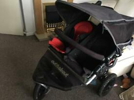 Out n about nipper double twin sift by side pushchair easy use lots of extras