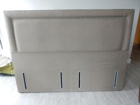 Super King-Sized Padded Fabric Headboard