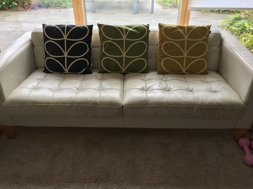 Pleasing Ikea Off White Leather Landskrona Karlstad Karlfors Sofa Chair And Footstool In Henley On Thames Oxfordshire Gumtree Gmtry Best Dining Table And Chair Ideas Images Gmtryco