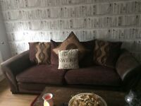 X 2 large brown sofas