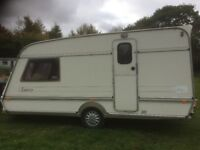Touring caravan shell- use as - extra bedroom / Storage/Office/workroom/playroom/Den/covered trailer