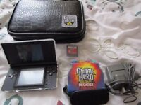 Limited Edition Guitar Hero Nintendo DS Lite Bundle with Two DS Games and charger, Stylus & case
