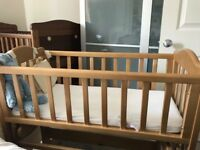 Very good condition swinging/static crib £20 ONO- incl. mattress and sheets