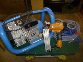 Air Compressor, Air Hoses and Air Gun