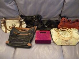 seven excellent quality womens hand bags,as new condition,only £3. each,lovely ,stanmore , middlesex
