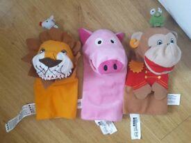 3 Ikea puppets