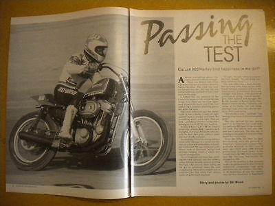 Harley Davidson Sportster 883 Chris Carr Article American Motorcyclist 10/1992