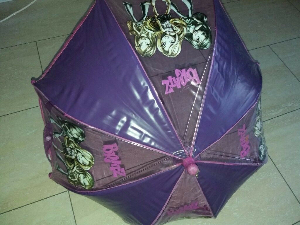 Purple Bratz girls umbrella kids