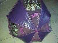 Purple Bratz girls umbrella kids