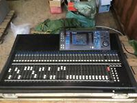 Yamaha LS9-32 channel mixer in flightcase