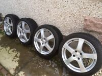 """Alloys with Winter Tyres (17"""") (Fit some Corsa, Punto, Mito with 4 stud fitment)"""