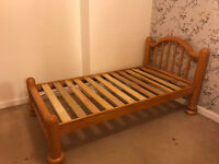 Oak wood single bed frame very good condition