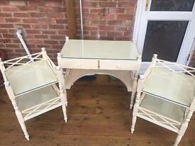 Dressing table and bedside table set