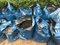 Rubber chippings for children's play area