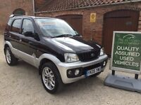 DIAHATSU TERIOS SPORT 1300CC 4X4, STUNNING LOW MILEAGE EXAMPLE, FROM THE RETFORD CAR COMPANY