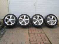 alloy wheels and tyres 5 stud 225 x 45 zr 17