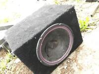 Subwoofer speaker box