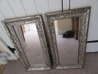PAIR OF DUNELM MIRRORS HEAVY ORNATE VERTICAL OR HORIZONTAL