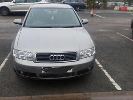 For Sale: Audi A4, 1.6 petrol, manual gear. Mot until October 2018 - with no advisory