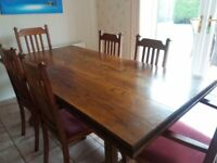 Refectory Table - Vintage solid oak