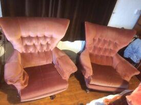 G Plan Vintage Fabric Swivel Armchair