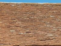 Hand made clay roof tiles mainly pegs