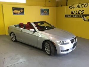 2007 BMW 328 i ~ SILVER ON RED ~ CONVERTIBLE ~ ALL POWER OPTION